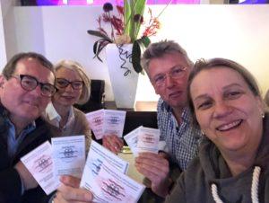Unsere Teilnehmer aus Nienburg und Hille nach der bestandenen Funkprüfung UBI/SRC.